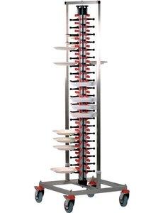 Saro Bordenrek voor 84 Borden | Verrijdbaar | B650 x D650 x H1870 mm