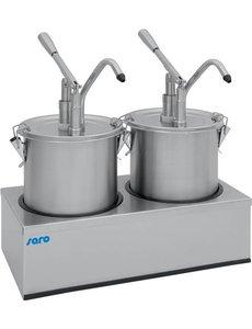 Saro Sausdispenser 2 x 4.5 Liter   Dosering max. 40 ml.   PD-002