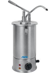 Saro Verwarmde Sausdispenser PD-17 | Dosering 40 ml. | Cap. 3 Liter