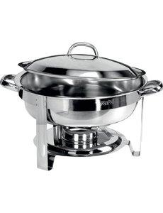 Saro Ronde Chafing Dish | RVS Gepolijst | Ø 340 mm | 4 Liter