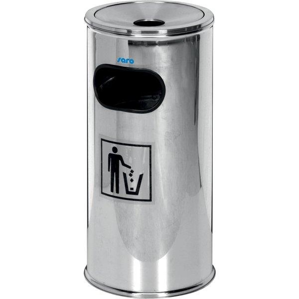 Saro Afvalbak met Uitneembare Asbak | 18 Liter | Hoog 62 cm.