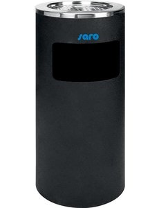 Saro Afvalbak met Asbak | 20 Liter | Ø300mm x H 720mm