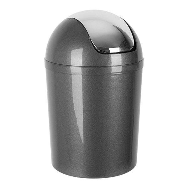 EMGA Afvalbak met Tuimeldeksel  | Grijs | 5 Liter  | Ø19xH31 cm.