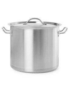 Hendi Kookpan met Deksel Budget Line | 21 liter | Ø30x(H)30 cm.