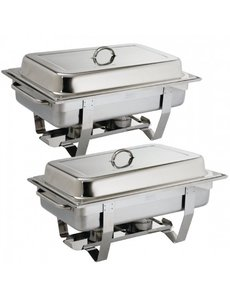 Olympia Chafing Dish Bain Marie Compleet | GN 1/1 | 9 Liter | Per 2 stuks