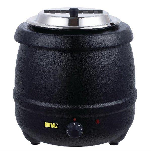 Buffalo Soepketel 10 Liter | Au Bain Marie | Zwart | tot 98°C