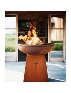White Fire White Fire Cortenstaal Barbecue met Voet en Vuurschaal | Ø102 cm