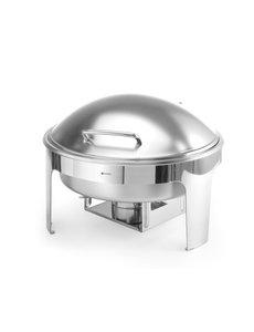 Hendi Chafing Dish Rond | Mat RVS | 465x420x(h)320mm | 6 Liter