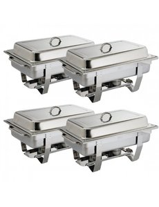Olympia 4 x Chafing Dish Bain Marie Compleet | GN 1/1 | ACTIE