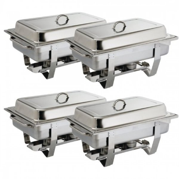 Olympia Chafing Dish Bain Marie Compleet | GN 1/1 | Per 4 stuks