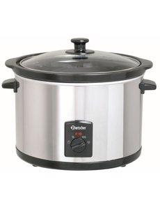 Bartscher Slowcooker met Keramische Binnenpan | 5.5 Liter | 230V / 280Watt |  20 °C tot 96 °C