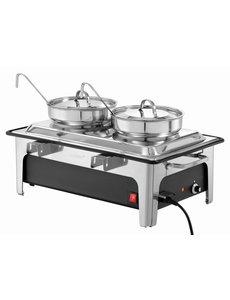 Bartscher Elektrische Soep Chafing Dish | Inclusief 2x4 Liter Soeppannen
