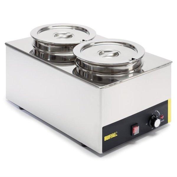 Buffalo Bain-Marie systeem | 2x 5,2 Liter potten