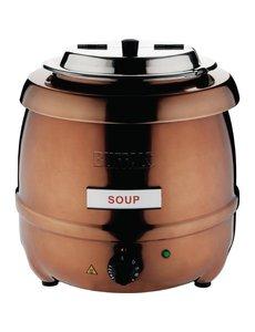 Buffalo Soepketel | 10 Liter | Koperkleurig | RVS Deksel