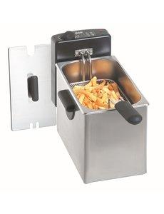 Bartscher Friteuse 4 liter    2200Watt   60 °C tot 190 °C   205 x 540 x H280mm