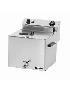 Bartscher Friteuse Professional | 10 Liter | Met aftapkraan | 8,1kW | 400V | 450x390x(H)375mm