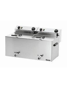 Bartscher Friteuse Professional II | 2 x 10 Liter | Met aftapkraan | 16,2 kW | 400V | 750x450x(H)375mm