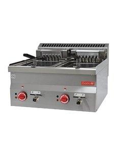 Gastro-M Friteuse met Aftapkraan | M 600 Serie | 2x 10 Liter| 15kW | 400V | 600x600x(H)280mm