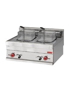 Gastro-M Friteuse | Gastro-M 650 Series | 2x 10 Liter | Met aftapkraan | 15kW | 400V | 700x650x(H)280mm