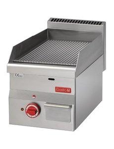 Gastro-M Bakplaat Elektrisch | Gastro-M 600 Series | Geribd | 400V | 600x300x(H)280mm
