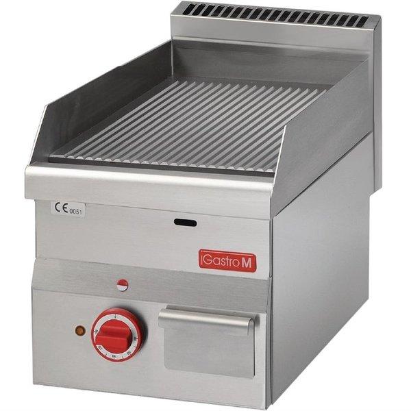 Gastro-M Bakplaat Geribd Elektrisch | M 600 Series |  | 400V / 3000W | 60/30 cm.