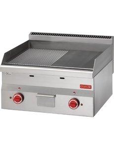 Gastro-M Bakplaat Elektrisch | Gastro-M 600 Series | Glad/Geribd | 400V | 600x600x(H)280mm