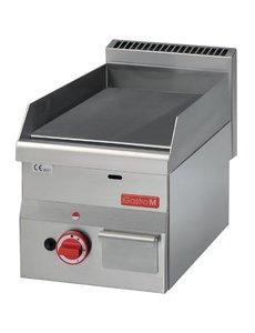 Gastro-M Bakplaat Gas | Gastro-M 600 Series | Glad | 5,2kW | 600x300x(H)280mm