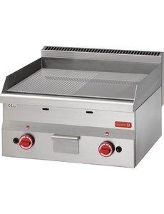 Gastro-M Bakplaat Gas | Gastro-M 600 Series | Geribd/Glad | 10,4kW | 600x600x(H)280mm