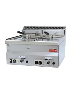 Gastro-M Friteuse Gastro-M 600 Series | Gas | 2x 8 Liter | 600x600x(H)280mm