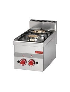 Gastro-M Gaskooktoestel | Gastro-M 600 Series | 2 Branders | 6,1kW | 600x300x(H)280mm