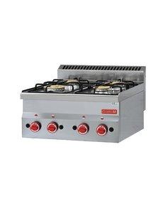 Gastro-M Gaskooktoestel | Gastro-M 600 Series | 4 Branders | 12,1kW | 600x600x(H)280mm