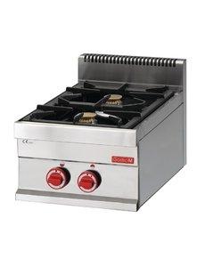 Gastro-M Gaskooktoestel | Gastro-M 650 Series | 2 Branders | 40cm Breed