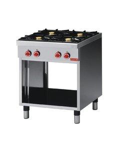 Gastro-M Gaskooktoestel | Gastro-M 650 Series | 4 Branders | 17,2kW | 700x650x(H)850mm