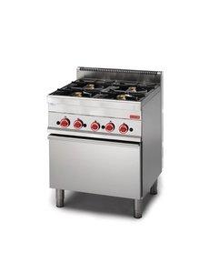 Gastro-M Gasfornuis met oven | Gastro-M 650 Series | 4 Branders | 70cm Breed