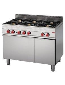 Gastro-M Gasfornuis met Oven | Gastro-M 650 Series | 6 Branders | 110cm Breed