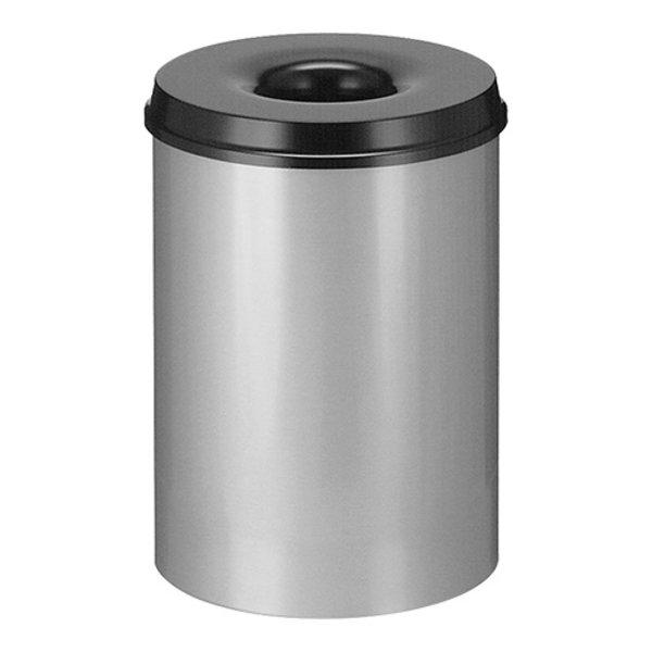 EMGA Zelfdovende Grijze Afvalbak 30 Liter | Ø34xH47 cm.