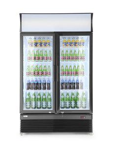 Arktic Display koelkast met lichtbak en 2 glazen deuren  750 Liter |  1120x595xH1965 mm.