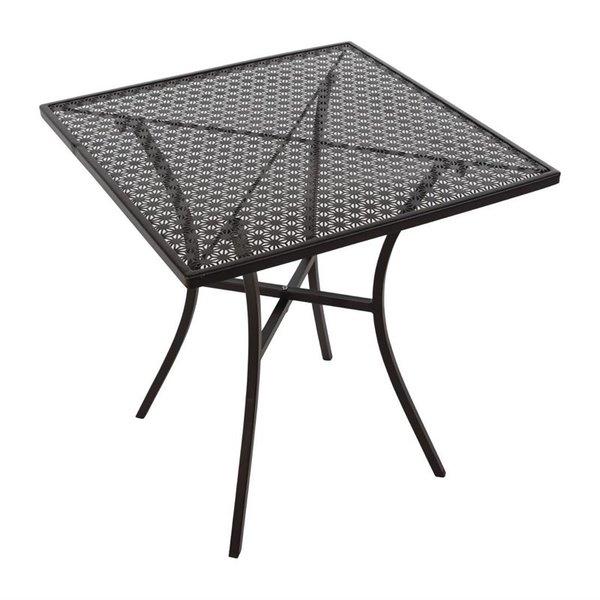 Bolero Vierkante Stalen Zwarte Bistrotafel | 70x70x(H)71cm