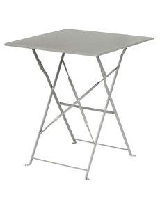 Bolero Opklapbare Stalen Vierkante Tafel | Grijs | 60x60x(H)71cm