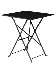Bolero Opklapbare Stalen Vierkante Tafel | Zwart | 60x60x(H)71cm