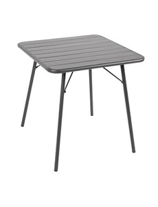 Bolero Stalen Tafel | Opklapbaar | Grijs | 70x70X(H)71cm