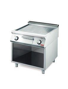 Gastro-M Elektrisch Geslepen Bakplaat | Glad | 10,8kW | Gastro M 700 Plus | 80x70x(H)85cm