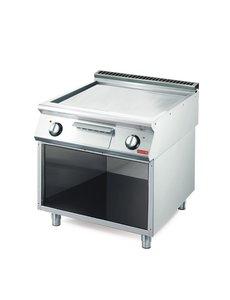 Gastro-M Elektrisch Verchroomde Bakplaat | Glad | 10,8kW | Gastro M 700 Plus | 80x70x(H)85cm