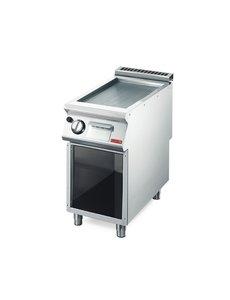 Gastro-M Gas Bakplaat | Gastro M 700 Plus | Geribt | 40x70x(H)85cm