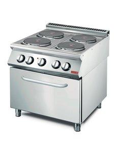 Gastro-M Elektrisch Fornuis met oven | 4-pits | Gastro M 700 Plus | 80x70x(H)85cm