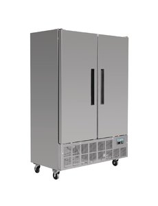 Polar G-serie 2-deurs Slimline RVS Vriezer met 2 Deuren 960 Liter | -20°C tot -10°C | 201Hx134x71cm.