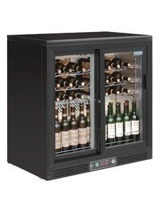 Polar G-serie Wijnkoeling met Schuifdeuren voor 56 Flessen | +5°C tot +18°C | 92Hx92x53.5cm.