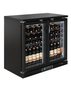 Polar Polar G-serie Wijnkoeling met Klapdeuren voor 56 Flessen | +5°C tot +18°C | 92Hx92x54cm.