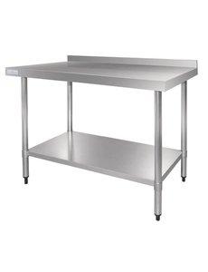 Vogue Werktafel met Achteropstand RVS | 70 cm. Diep | Keuze uit 5 breedtes