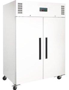 Polar G-serie Witte Vriezer met 2 Deuren 1200 Liter | -20°C tot -10°C | 200Hx135x82cm.